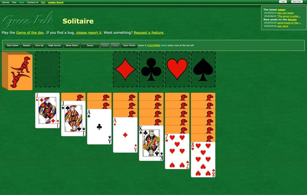 free klondike solitaire screenshot