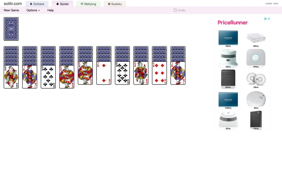solitaire free online freecell screenshot