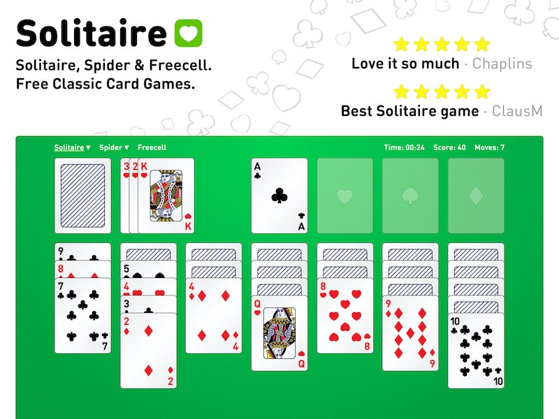 Solitaire, Spider and Freecell